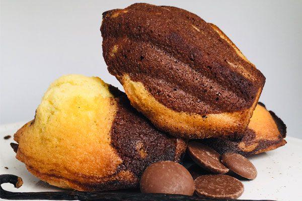 madeleines marbrées vanille chocolat