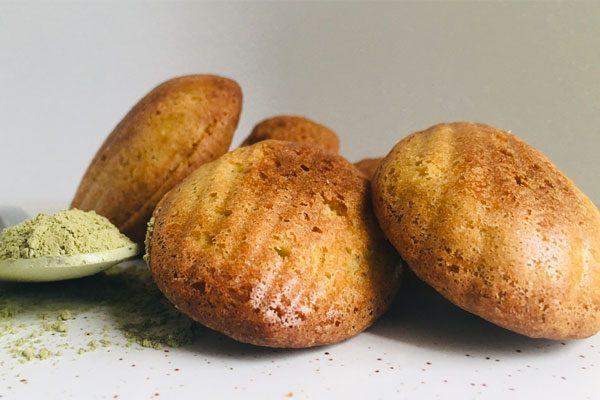 madeleines thé vert matcha